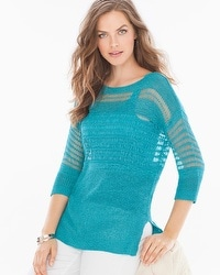 Miraclebody by Miraclesuit Drew Yarn Sweater Turquoise