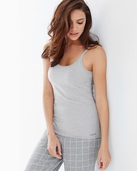 Naked Essential Cotton Blend Camisole Metro Gray Heather