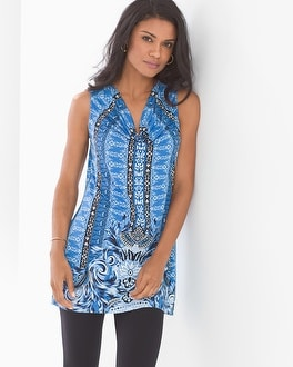 Sleeveless Cowlneck Tunic
