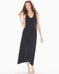 Embraceable Cool Nights Tea Length Nightgown Black