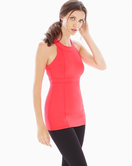 High-Neck Slimming Tank Coral