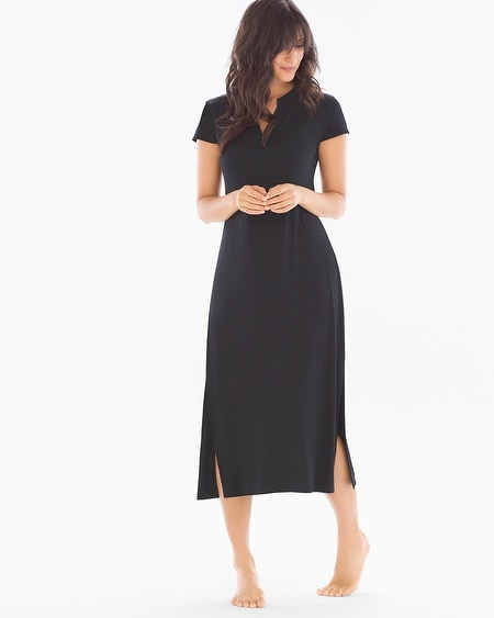 Long Sleepshirt Black