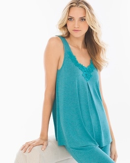 Cool Nights Pajama Tank Heather Pagoda