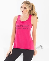 Soma Sport Cotton Blend Flyaway Tank Top Brunches Pink Punch