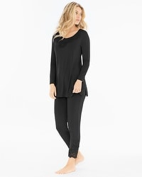 Oh My Gorgeous Tunic Pajama Set Black