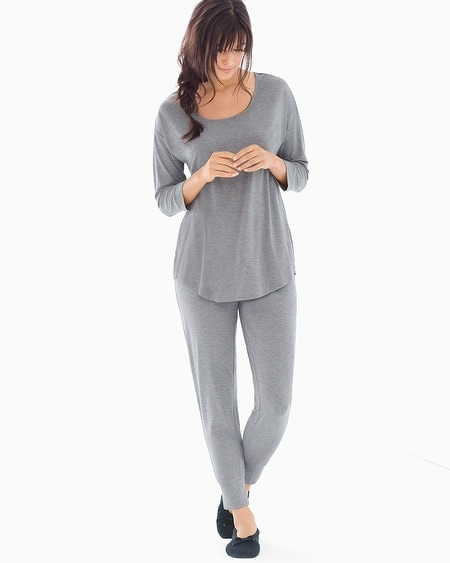 Relaxed Fit Pajama Set Heather Graphite