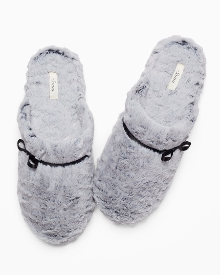 Luxe Marble Slippers Silver Diamond