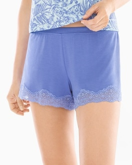 Cool NIghts Tap Pajama Shorts Baja Blue
