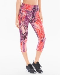 Soma Sport Crop Leggings With Side Pocket Ombre Paisley Grenadine