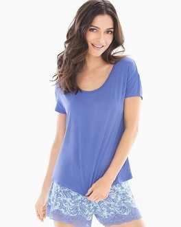 Cool Nights Boxy Pajama Tee Baja Blue