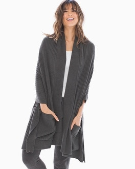 Barefoot Dreams Chic Lite Travel Shawl Carbon by