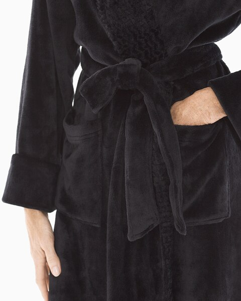 29fbc53312 Return to thumbnail image selection Plush Long Robe Black