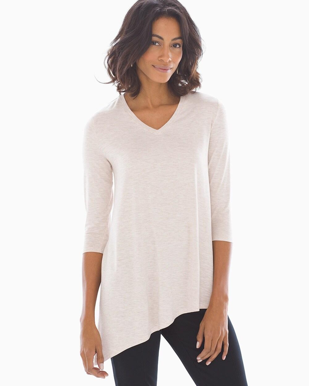 d0d49de9270 Asymmetrical Hem Tunic Tee Heather Blossom - Soma