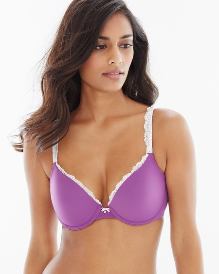 Push Up Lace Trim Bra