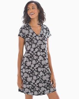 Short Sleeve Sleepshirt Elegant Lace Black by Cool Nights