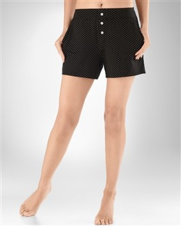 Embraceable Cool Nights Mini Dot Black PJ Short