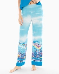 Cool Nights Pajama Pants Panorama Beach Blue Sea