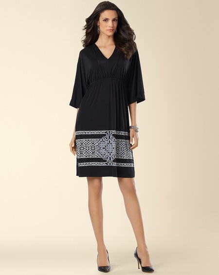 Dahlia Kimono Sleeve Dress Trilogy Border