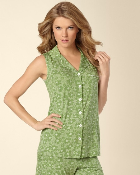 Dotted Tropic Lush Green PJ Top