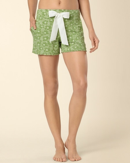 Dotted Tropic Lush Green PJ Short