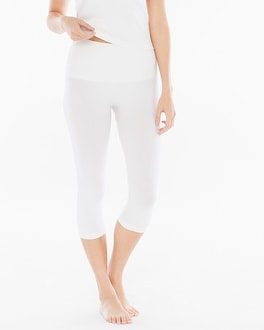Slimming Crop Legging White