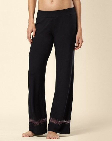 Deco Lace Sleep Pant Black