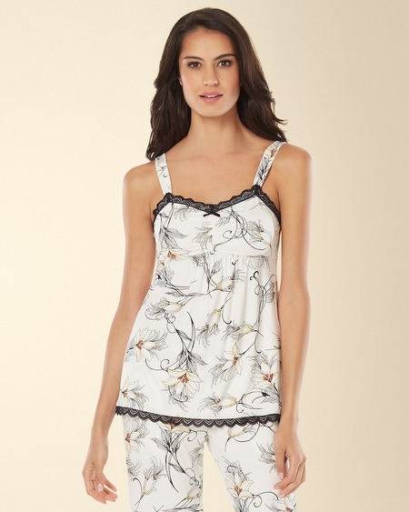Lace Sleep Cami Glamour Floral Ivory
