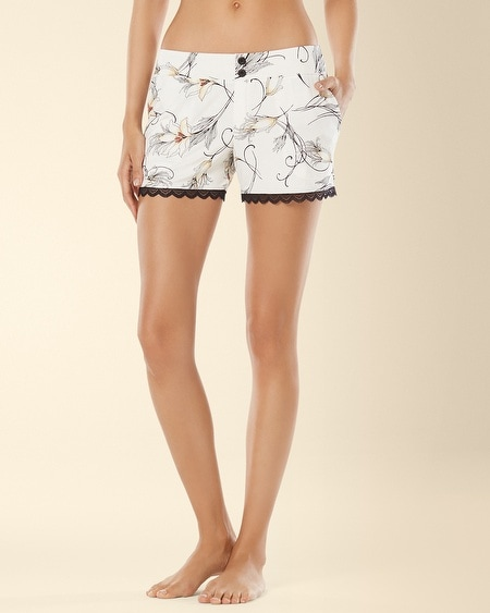 Lace Sleep Short Glamour Floral Ivory