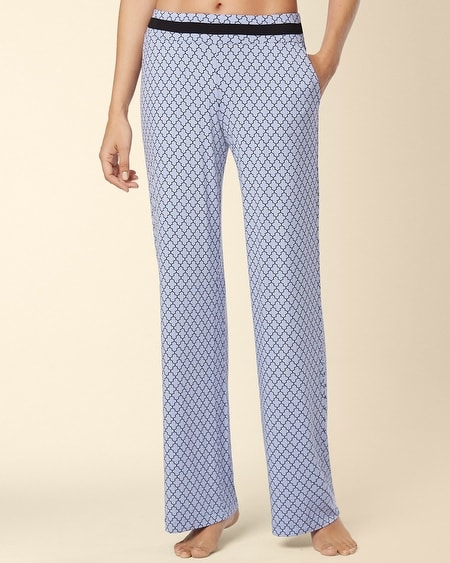 Long Inseam Pajama Pant Surfside Tile Blue Violet