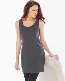 Pima Cotton Tunic Layering Tank Heather Quartz