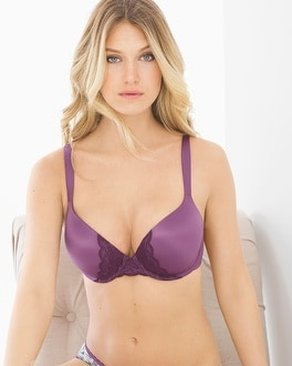 Enhancing Shape Full Coverage Lace Trim Bra