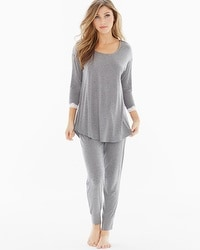 Embraceable Cool Nights Pajama Set Little Dot Heather Graphite