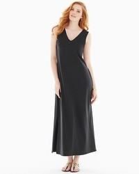 Premium Cotton Tank Maxi Dress Black