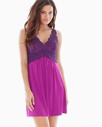 Coastal Floral Lace Sleep Chemise Orchid Bloom/Navy