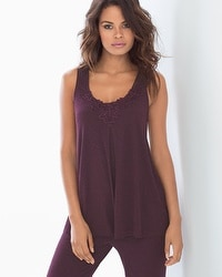 Cool Nights Pajama Tank Heather Marsala