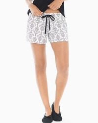Embraceable Pajama Shorts Chic Scroll Ivory