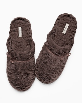 Embraceable Luxe Marble Slippers Java
