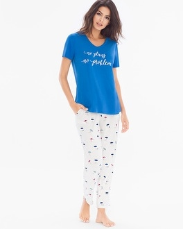 Cool NIghts Ankle Length Pajama Set Lazy Days Capri