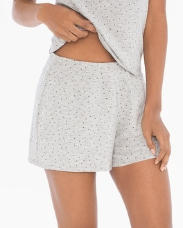 Cool Nights Full Tap Pajama Shorts Festivity Heather Frost