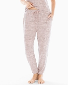 Banded Ankle Pajama Pant Heather Vintage Pink by Cozy Nights