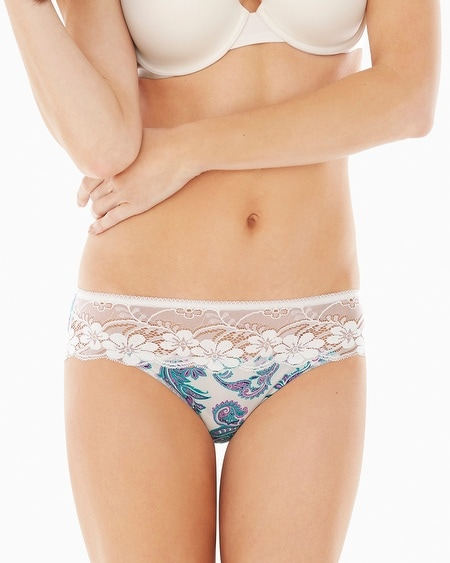 Microfiber with Lace Hipster