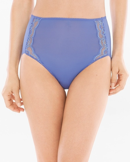 Microfiber with Lace Modern Brief