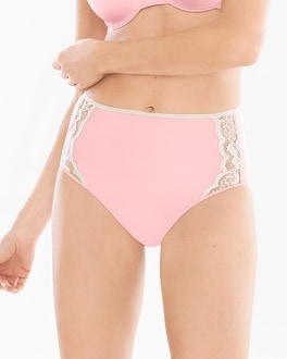 Vanishing Edge Microfiber with Lace Modern Brief