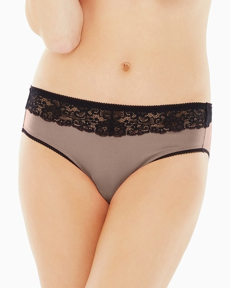 Lace High Leg Brief