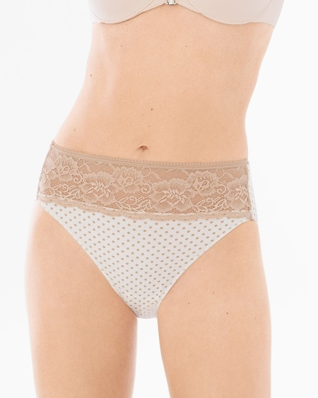 Cotton/Modal with Lace High Leg Brief
