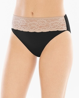Vanishing Edge Cotton/Modal with Lace High Leg Brief