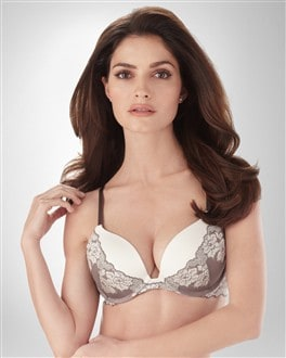 Ravishing Plunge Push Up Brocade Bra