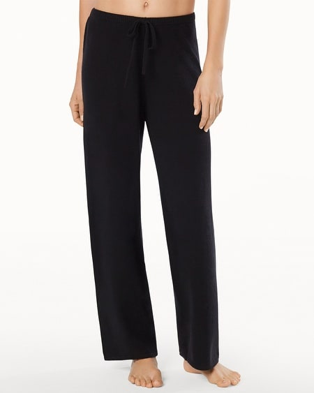 Drawstring Cashmere Pants Black