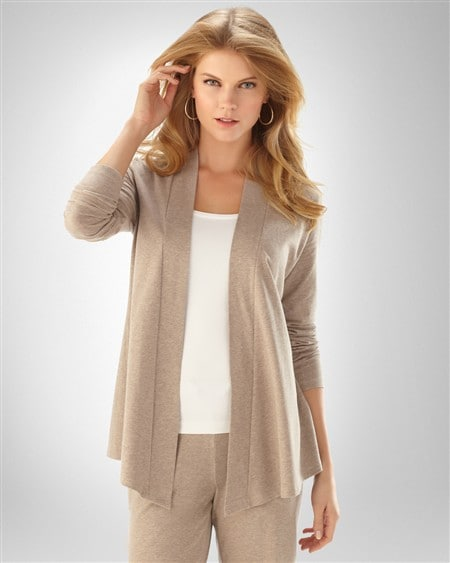 Soft Cotton Drape Cardigan