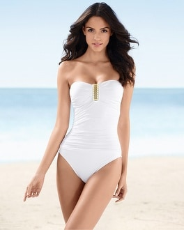 La Blanca Bandeau One Piece